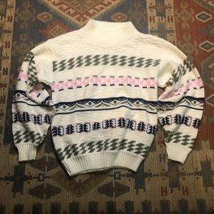 Vintage Helium White Sweater small